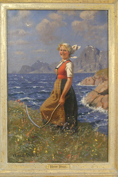 Original Oil Canvas Hans Dahl Painting