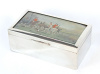 Vienna Silver Tablebox with English Hunt Scene Watercolor by Arthur J. Batt