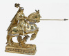 German Gilt Sterling Knight on Horse